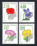 France 1998 Flowers  /  Plants  /  Nature  /  Pre-cancel 4v set (n33079)