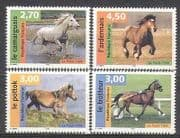 France 1998 Horses  /  Animals  /  Sport 4v set (b5925)