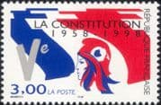 France 1998 Marianne/ Flag/ Constitution/ Politics/ Government/ People 1v (n46250)