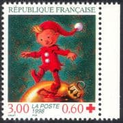 France 1998 Red Cross Fund/ Elf/ Christmas/ Greetings/ Welfare/ Animation 1v (n42998)