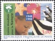 France 1998 UICN/ Birds/ Animals/ Plants/ Nature/ Conservation/ Environment 1v (n45447)