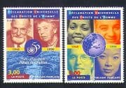 France 1998 UN  /  Human Rights  /  People  /  United Nations  /  Roosevelt 2v set (n32949)