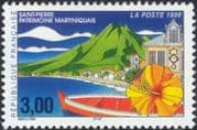 France 1999 Martinique/ Mountain/ Boat/ Flower/ Clock Tower/ Animation/ Volcano/ Tourism 1v (n37370)