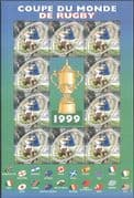 France 1999 Rugby World Cup Championship/ WC/ Sports/ Games/ Flags 10v sht (n43818)