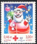 France 2001 Red Cross/ Father Christmas/ Greetings/ Welfare/ Animation 1v (n37367g)