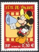 France 2004 Stamp Day/ Walt Disney/ Mickey Mouse/ Cartoons/ Animation 1v (n37367d)