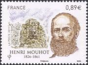 France 2011 Henri Mouhot/ Temple/ Statue/ Buildings/ Explorers/ People 1v (n45570)