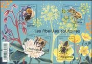 France 2016 Solitary Bees/ Insects/ Nature/ Conservation/ Flowers 4v m/s (n45655)