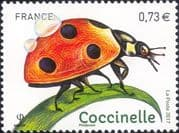 France 2017 Ladybird/ Beetles/ Insects/ Nature/ Conservation/ Ladybirds 1v (n46225)