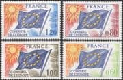 France (Council of Europe) 1975 Council Flag/ Sun/ Emblem/ Politics 4v set (n44841)