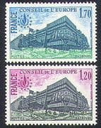 France (Council of Europe) 1978 Buildings  /  Architecture  /  Rights 2v set (n37640)