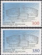 France (Council of Europe) 1996 Palace of Human Rights/ Buildings/ Architecture 2v set (n45909)