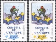 "France (Council of Europe) 2003 ""Walking on Stars""/ Art/ Animation 2v set (n45916)"