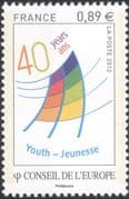 France (Council of Europe) 2012 Youth Centre 40th/ Youth Fund 1v set (n45919)