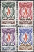 "France (UNESCO) 1969 Human Rights/ ""Flame of Freedom""/ People/ Fire/ History/ Heritage 4v set (n44838)"