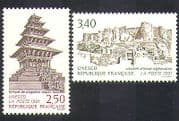 France (UNESCO) 1991 Fort  /  Temple  /  Buildings  /  Architecture  /  Heritage 2v set (n37039)
