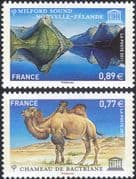 France (UNESCO) 2011 Camel/ Sea/ Mountains/ Animals/ Nature/ Heritage 2v set (n45863)