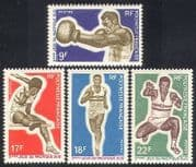 French Polynesia 1969 Sports  /  Games  /  Boxing  /  Running  /  Athletics 4v set (n38736)