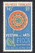French Polynesia 1972 Arts Festival  /  Flower Emblem  /  Animation 1v (n37498)