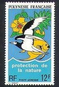 French Polynesia 1974 Nature Protection  /  Birds  /  Fish  /  Plants  /  Conservation 1v n37515