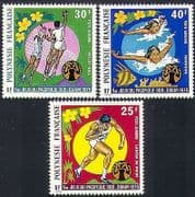 French Polynesia 1975 Sports  /  Swimming  /  Volleyball  /  Athletics  /  Games 3v set (n34207)