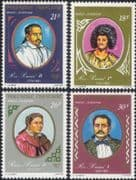 French Polynesia 1977  Sovereigns/ Kings/ Queen/ Royalty/ Royal/ People  4v set (n37501)