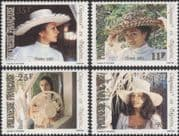 French Polynesia 1983 Hats/ Clothes/ Costumes/ Design/ Craft/ Women 4v set (n37518)