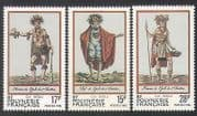 French Polynesia 1983 Traditional Costumes  /  Clothes  /  Dress  /  People 3v set (n35732)