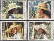 French Polynesia 1984 Hats/ Clothes/ Costumes/ Design/ Craft/ Women 4v set (n38352)