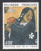 French Polynesia 1984 Paul Gauguin  /  Art  /  Painting  /  Paintings  /  Woman  /  Fruit 1v n37087