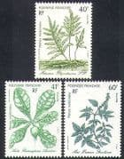 French Polynesia 1986 Plants  /  Nature  /  Medical  /  Medicinal  /  Health 3v set (n37514)