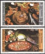 French Polynesia 1986 Traditional Food/ Cooking/ Dishes/ Gastronomy 2v set (n37478)