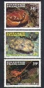 French Polynesia 1987 Crab  /  Lobsters  /  Crustaceans  /  Marine  /  Nature  /  Wildlife 3v n38362