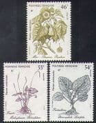 French Polynesia 1987 Plants  /  Nature  /  Medical  /  Medicinal  /  Health 3v set (n38365)