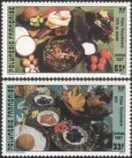 French Polynesia 1987 Traditional Food/ Cooking/ Dishes/ Gastronomy 2v set (n37504)