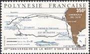 French Polynesia 1988 Eric de Bisschop/ Sailing/ Explorer/ Maps/ People 1v (n45313j)