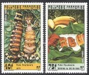 French Polynesia 1988 Traditional Food  /  Cooking  /  Dishes  /  Gastronomy 2v set (n38012)