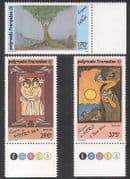 French Polynesia 1990 Legends  /  Art  /  Paintings  /  Tree  /  Gods  /  Animation 3v set (n39162)