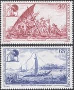 French Polynesia 1992  Sixth Pacific Arts Festival/ Canoes/ Boats/ Transport/ Sail/ 2v set (n45313b)