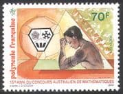 French Polynesia 1993 Mathematics/ Mathematician/ Competition/ Animation 1v n30948