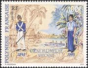 French Polynesia 1993 Police Force/ Law/ Order/ Uniforms/ Trees/ Boats 1v (n30297)