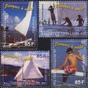 French Polynesia 2003 Pirogues/ Sailing Canoes/ Boats/ Transport/ Sail   4v set (n45866)