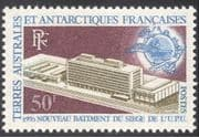 FSAT/TAAF 1970 UPU Headquarters/ Buildings/ Architecture/ Post/ Mail 1v (n43012)