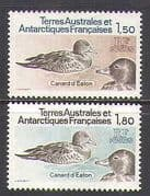 FSAT  /  TAAF 1980 Ducks  /  Birds 2v set (n22743)