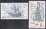 FSAT  /  TAAF 1980 Ships  /  Explorer  /  Boat  /  Map 2v set (n23215)