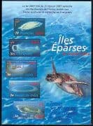 FSAT  /  TAAF 2007 Turtle  /  Eparses Islands  /  Nature  /  Maps  /  Marine  /  Wildlife 5v sht n30186