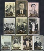Fujeira 1965 JFK  /  John F Kennedy  /  President  /  Politics  /  People 10v set (n37251)