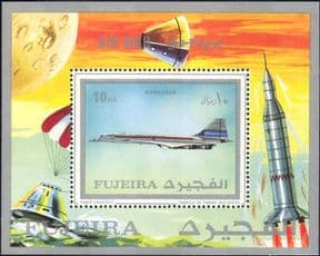 Fujeira 1971 Concorde/ Aviation/ Transport/ Planes/ Aircraft/ Flight 1v m/s (b6084a)