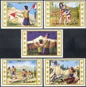 Fujeira 1971 World Scout Jamboree/ Girl Scouts/ Guides/ People/Y outh 5v set (s5356)