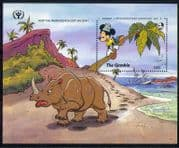 Gambia 1991 Disney/ ILY/ Mickey/ Rhino/  Books/ Cartoons/ Animation 1v m/s  (d00110)
